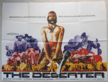 Deserter, Original UK Quad Poster, Richard Crenna, Slim Pickens, '71